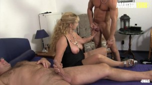 XXX OMAS – German Big Tits Mature Wife Cheats and Fucks Two Young Studs